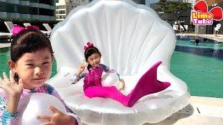 인어공주가 된 라임! 파라다이스 호텔 수영장 체험 콩순이 장난감 놀이 LimeTube & Toy