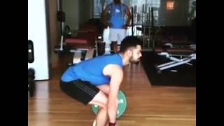 Virat Kohli Workout Video Will Give You Some Serious Fitness Goal. Lift 150kg kohli virat
