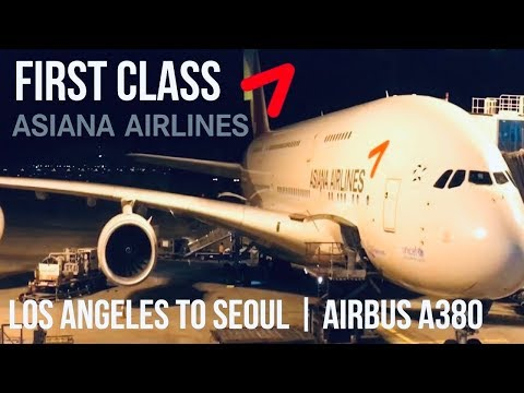 Asiana Airlines First Class Suites Los Angeles to Seoul | Airbus A380
