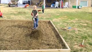 troy tilling the garden