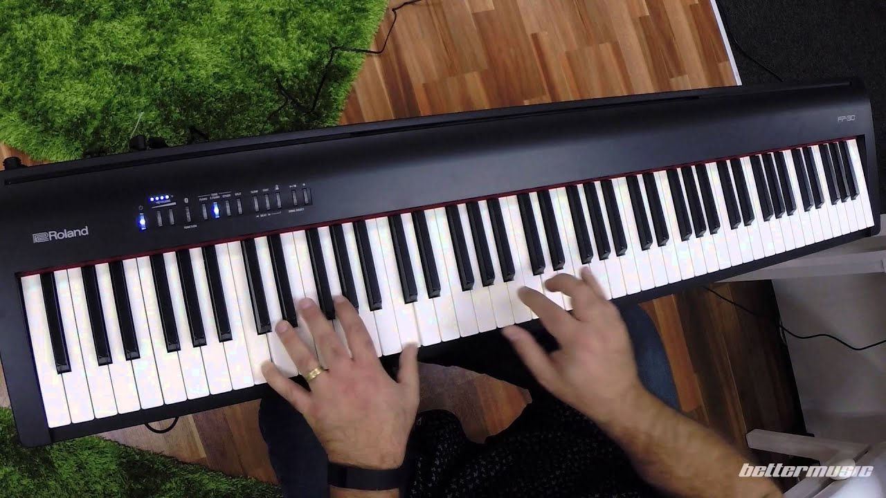roland fp 30 digital piano demo better music youtube. Black Bedroom Furniture Sets. Home Design Ideas