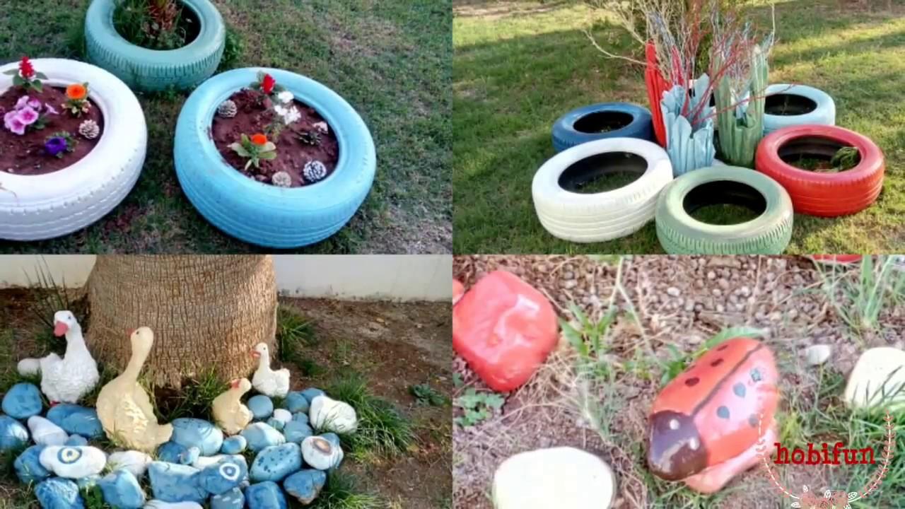 lastik ve taşlarla neşeli bahçeler - youtube