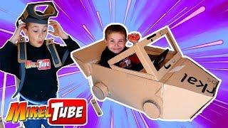 Leo crea su LABO CAR casero con carton y pintura thumbnail