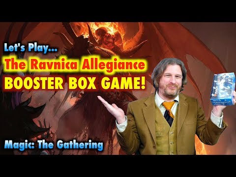 Let's Play The Ravnica Allegiance Booster Box Game For Magic: The Gathering!