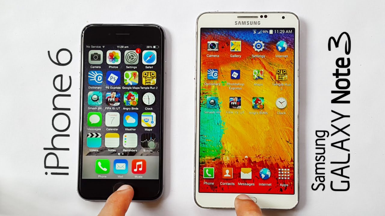 iphone 6 notes iphone 6 vs samsung galaxy note 3 speed test 11371