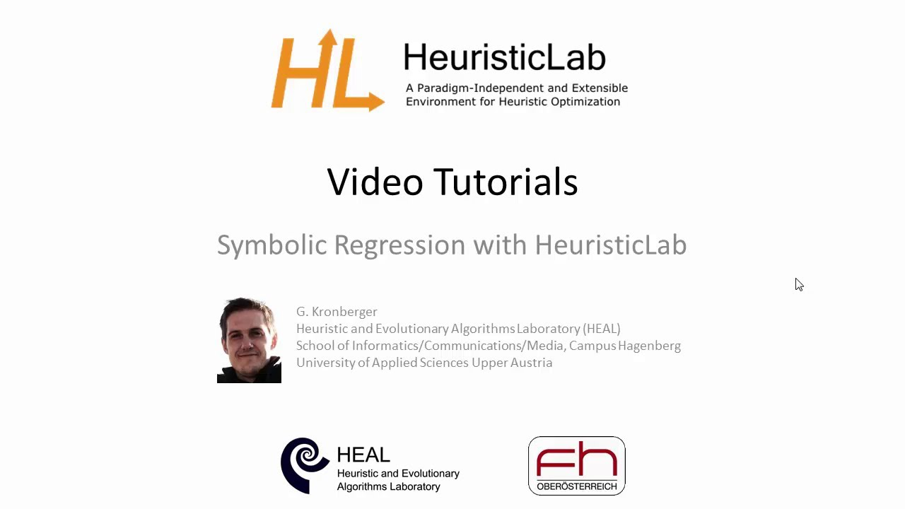 Symbolic Regression With Heuristiclab Youtube