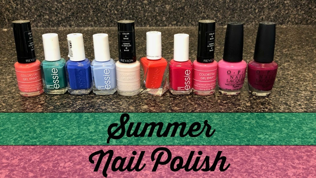 Great Nail Polish Colors For Summertime - YouTube