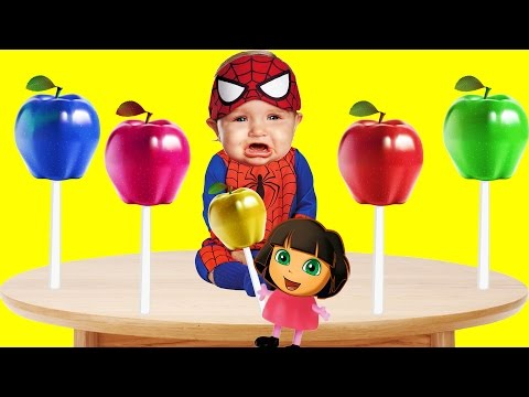 Thumbnail: Bad Baby Crying - Masha - Dora Lollipops Apple Finger Family Colors Learn