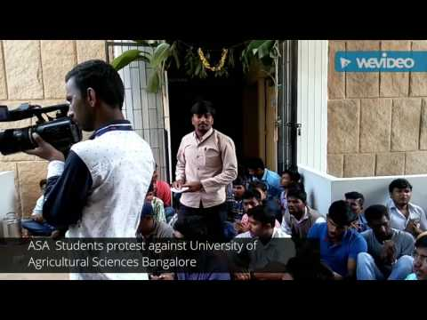 Ambedkar Students Association Students protest against University of Agricultural Sciences Bangalore
