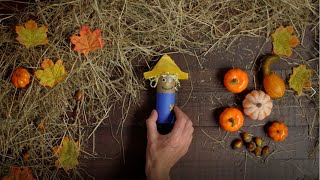 Click here to play the How to make an easy scarecrow craft for kids video