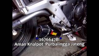 Knalpot Kawasaki Er6, Akrapovic Trioval carbon