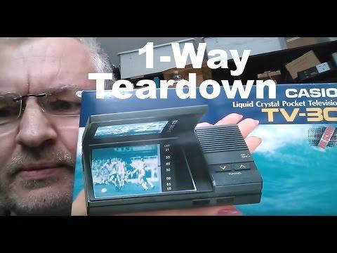 1-Way Teardown: Casio TV-30 LCD Pocket Television