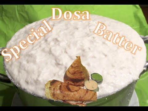 how to make dosa batter in tamil