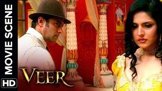 Zarine bites Salman | Veer | Movie Scene