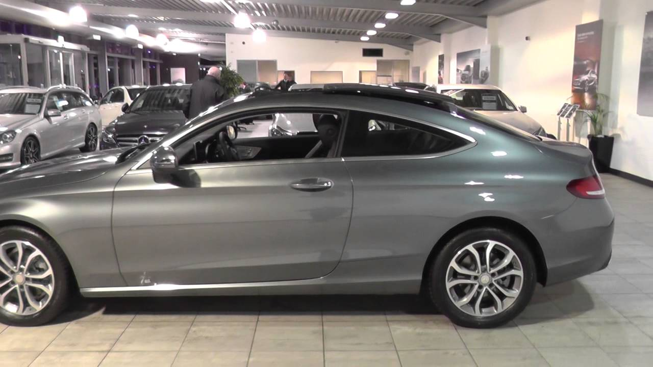 mercedes benz c class coupe 2015 c 220 d sport coupe u44602 youtube. Black Bedroom Furniture Sets. Home Design Ideas