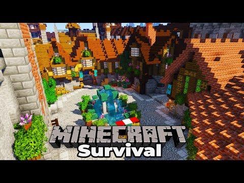 I Built A Medieval City In Minecraft 1.14 Vanilla Survival!