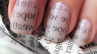 One of cutepolish's most viewed videos: Newspaper Nail Art