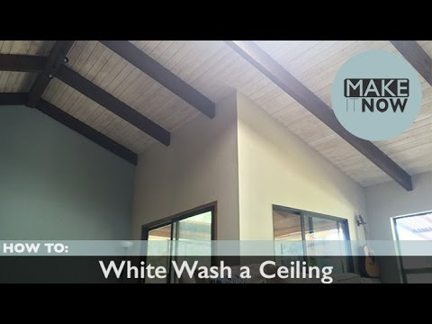 How To White Wash A Ceiling Youtube