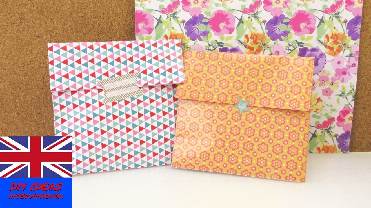 Gift Bag Folding Idea How To Make A Simple Box For Presents And Utensils Wring You