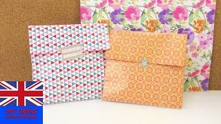 Gift Bag Folding Idea – How to make a simple box for presents and utensils – Gift wrapping