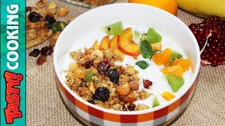 Healthy Granola Recipe 🥣 How To Make Granola At Home 🥣 Tasty Cooking