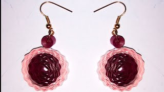 quilling earring - quilling papers earring tutorials