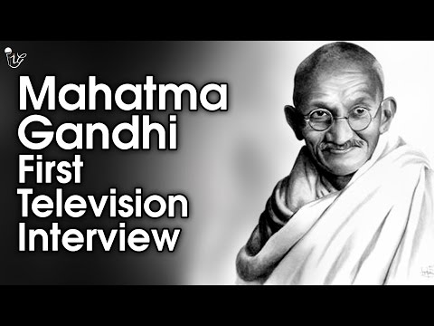 Mahatma Gandhi First Television Interview | 30th April, 1931 | Rare Video Of Mahatma Gandhi