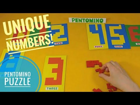 Pentomino Numbers from 0 to 9 Educational...