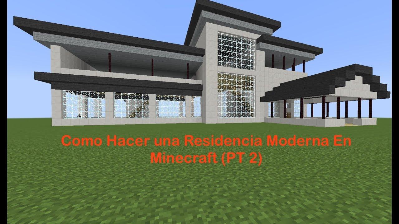Como hacer una residencia moderna en minecraft pt 2 for Casas minecraft planos