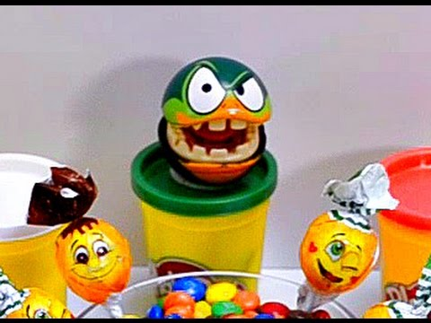 Thumbnail: Play Doh Learn Colors with Minions & Cars Lollipop & Kinder Surprise in M&Ms Fun video for kids
