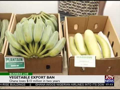 Vegetable Export Ban - Business Live on JoyNews (27-6-17)