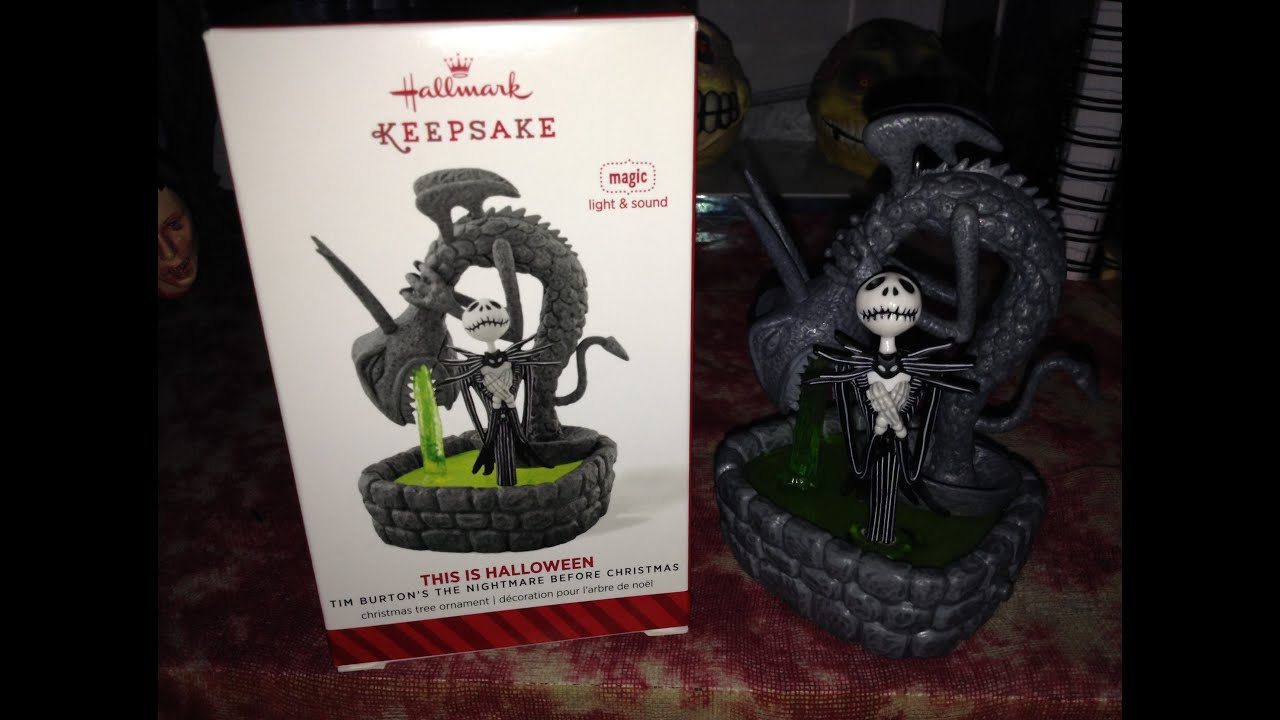 this is halloweennightmare before christmas 2014 hallmark ornament youtube