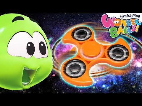 Learn Colours With Color Wheel Fidget Spinner | Colors with Wonderballs | WonderBalls Playground