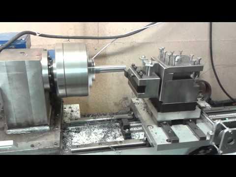 Diy cnc metal lathe machining spacer for bearing