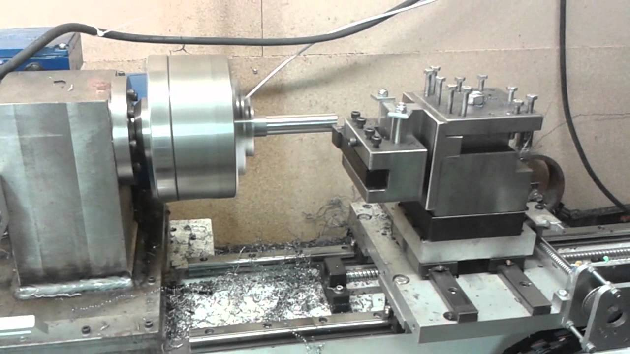 Diy cnc metal lathe machining spacer for bearing