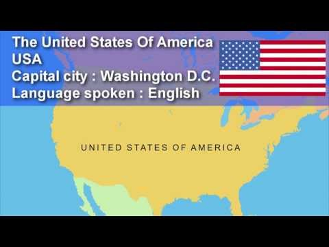 Learn Country, Capital City, Flag and Language Spoken -  Speak English, Learn English,