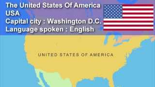 Learn Country, Capital City, Flag and Language Spoken