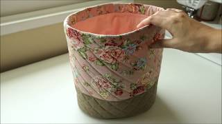How to Sew a Drawstring Bucket Bag