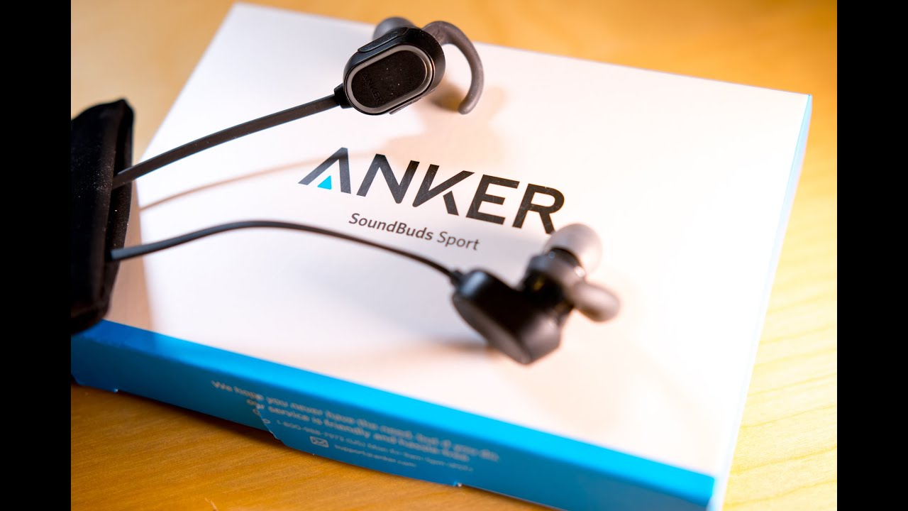 Anker Bluetooth SoundBuds Sport Headphones - UK Unboxing & Review