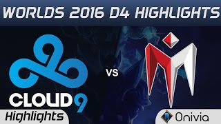 C9 vs IM Highlights Worlds 2016 D4 Cloud9 vs I May