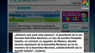 Florida Republican Senator Marco Rubio defames Venezuela