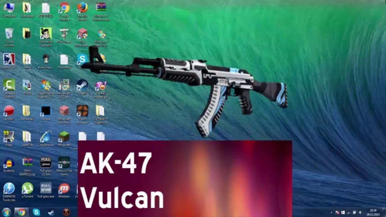 Скачать ак-47 вулкан для кс 1. 6.
