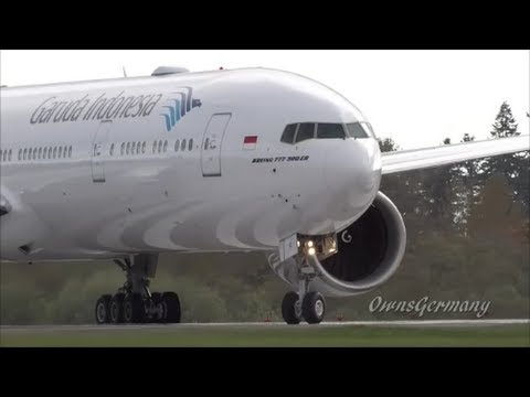 NEW Garuda Indonesia Boeing 777-300ER Test Flight @ KPAE