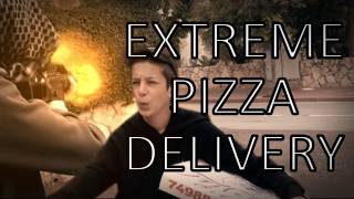 Extreme Pizza Delivery:  Short Action Scene