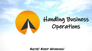 #13 : Handling Business Operations - Arise! (English)