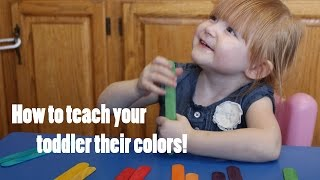 Tips for teaching your toddler thier colors! DIY Crafts! How to! Thumbnail