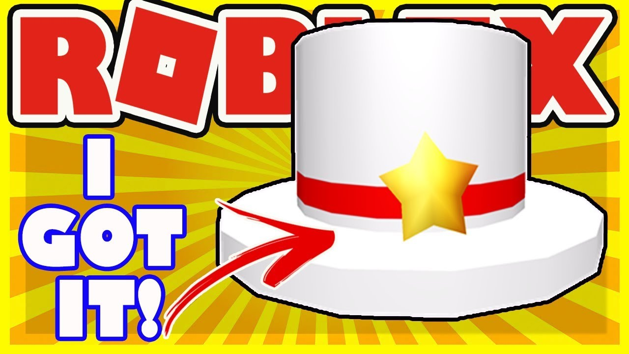 I Got The New Video Creator Top Hat In Roblox Star Hat For