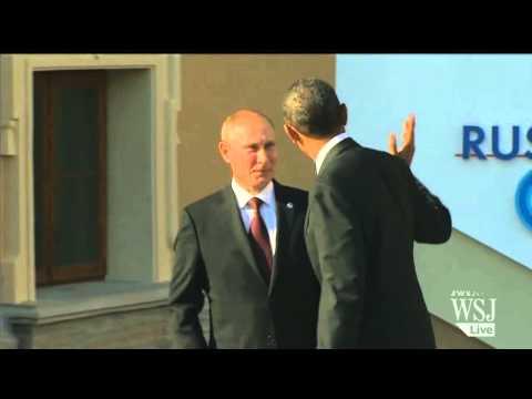 Putin Greets Obama at G-20 Summit