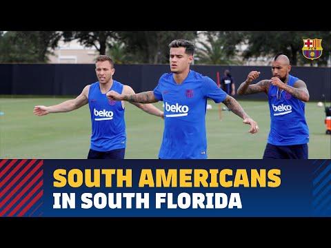 COUTINHO, ARTHUR, ARTURO VIDAL & PEÑA | Four players in first U.S. workout