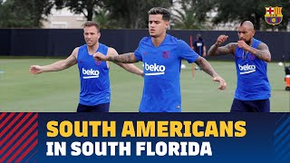 COUTINHO, ARTHUR, ARTURO VIDAL & PEÑA | Four players in first U.S. workout